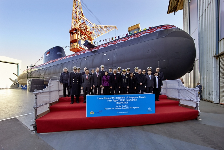 Launching_ceremony_HDW_Class_218SG_submarine_Invincible_Kiel_18_February_2019_thyssenkrupp_Marine_Systems_Kiel