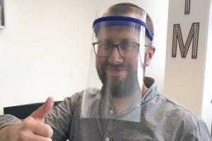 Face Mask mit Kopfhalterung der FH Münster