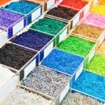 farbige Kunststoffgranulat 3D-Druck